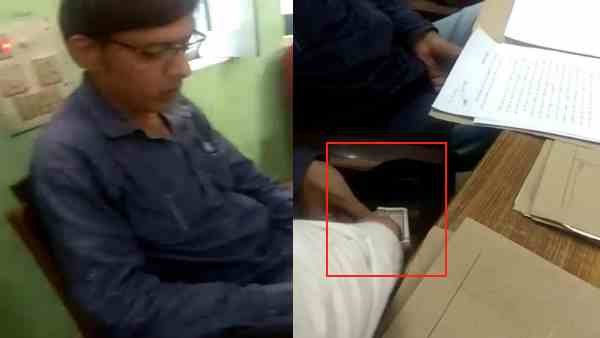 viral video of clerk taking bribe goes viral