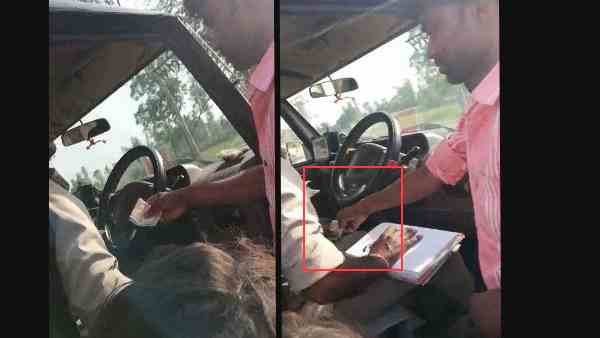 up policeman taking money, video goes viral