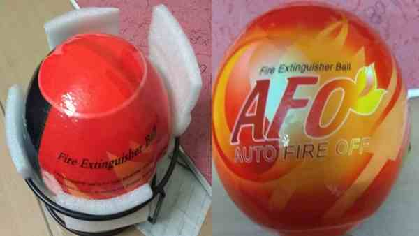 this auto fire off ball will extinguish fire
