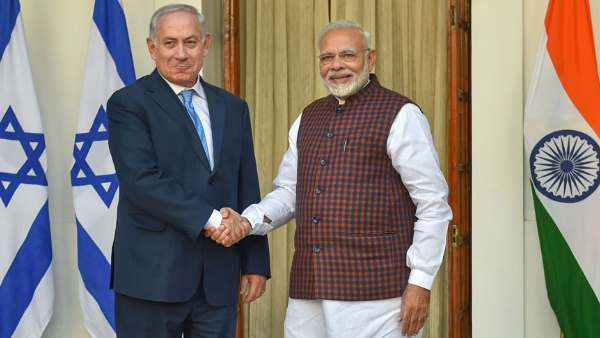 Israeli PM Benjamin Netanyahu thank Narendra Modi for UN Vote