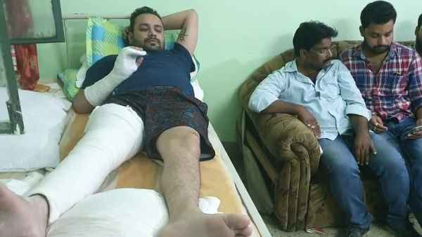 mla aman mani injured in road accident