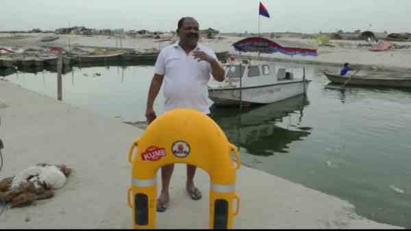 new life saving boat will help person from drowning
