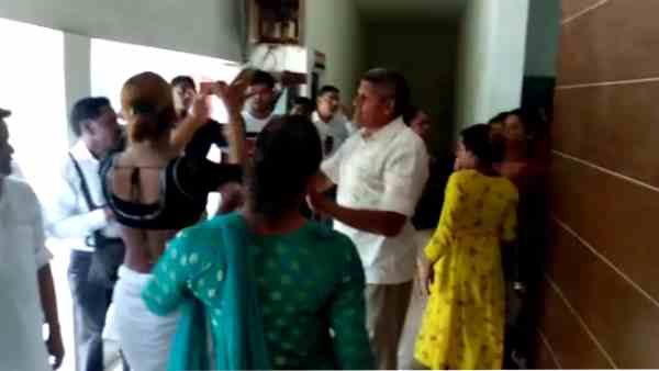lathicharge on group of kinnars at police station