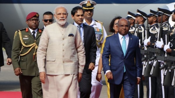 PM Narendra Modi arrives Maldives this is his first overseas visit after his re election