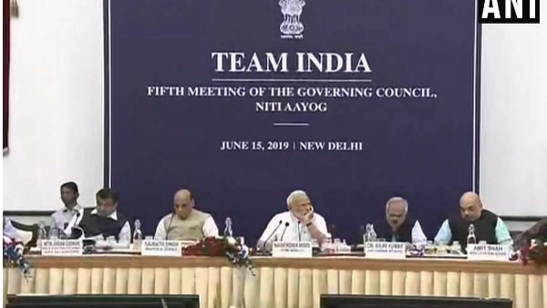 Prime Minister Narendra Modi chairs the 5th meeting of the Governing Council of NITI Aayog in Delhi