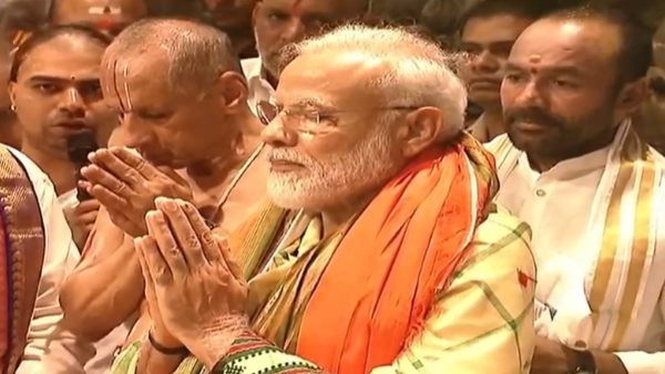 pm modi offer prayers to Lord Venkateshwara at Tirumala temple