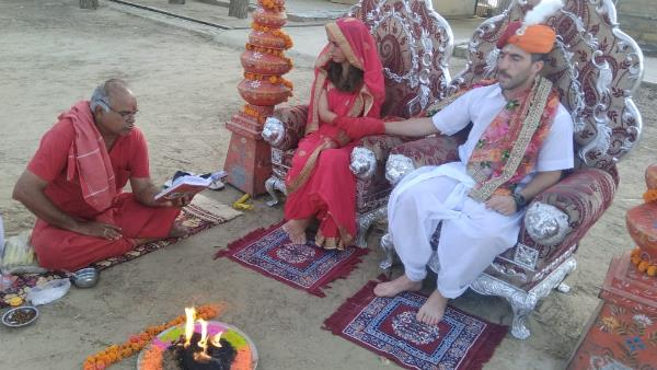 Spain Tourist get married in Jaisalmer By Rajasthani tradition