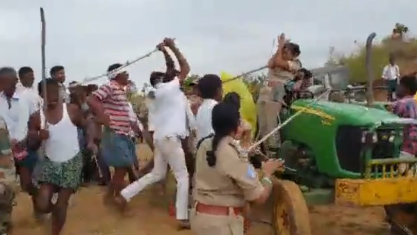 woman Forest Range Officer was viciously assaulted TRS MLA's brother in Telangana