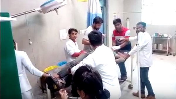 farrukhabad : robbers hospitalised after crime incident