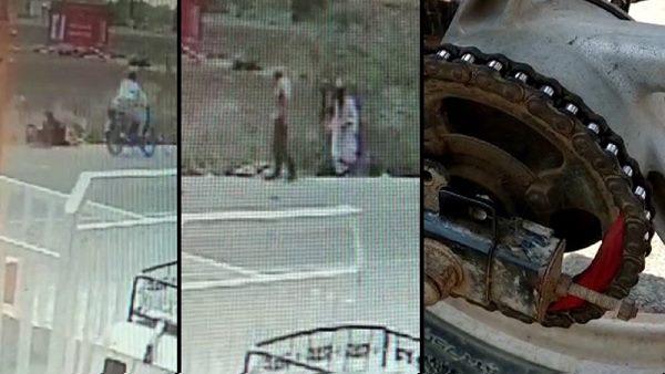 VIDEO: चलती बाइक में फंस गया महिला की साड़ी का पल्लू, 10 सेकेंड में हुई मौत