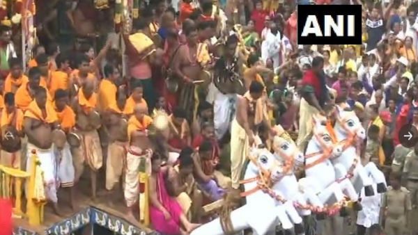 Jagannath Rath Yatra begins in Puri in presence of thousands of devotees.