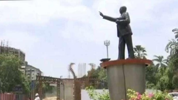 Dalits castes protest for ambedkar statue in gujarat