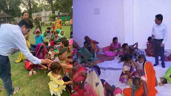 Child treatment at Sidhi Collector Abhishek Govt residence