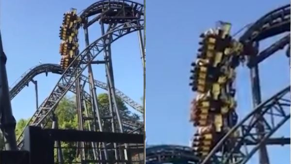 People Left Hanging 100 Feet In Air After Ride Malfunctions in theme park