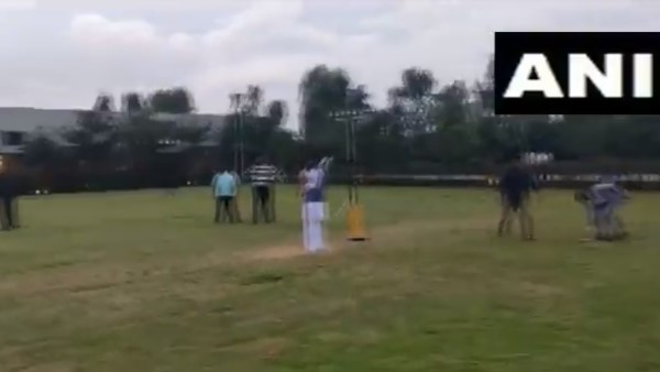 BJP MLAs play cricket at the resort in Bengaluru karnataka