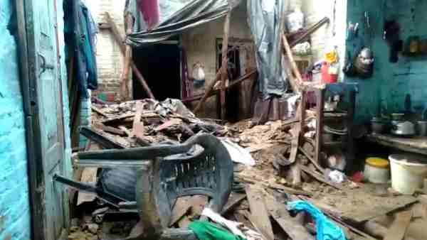 Two children of a family died and five were injured after roof of a house collapsed following heavy rainfall