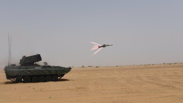 Indian Army successfully test third Generation Anti-Tank Guided Missile NAG in pokhran range