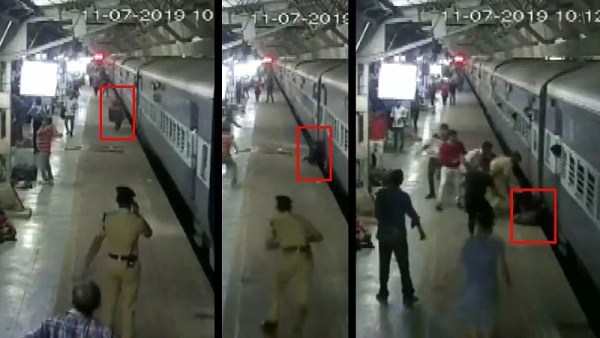 Watch video: RPF jawan saved woman at Ahmedabad railway station