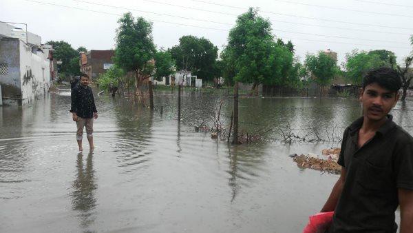 Rainfall in the capital Jaipur