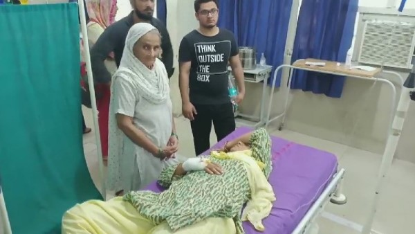 A student attacked his teacher with a sharp object in sonipat