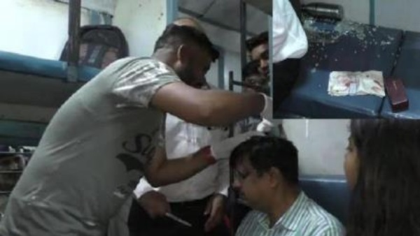 stone throwing on Chitrakoot Express passengers injured