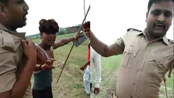 villegres attcked on policemen in bareilly