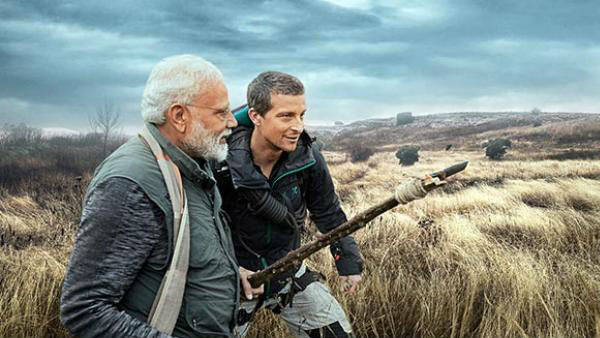PM Modi With Bear Grylls in Man Vs Wild on Discovery Channel, PM Modi reveal about his childhood.