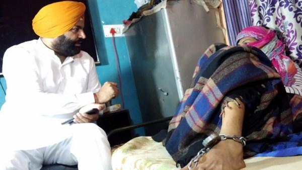 Punjab :5वीं पास युवती को रोजाना चाहिए 500 से 1000 रुपए का नशा, एमपी मिलने पहुंचे तो जंजीर से बंधी मिली