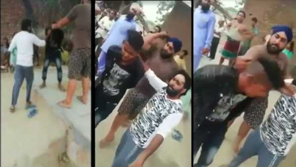 video goes viral of man beating his servant brutally