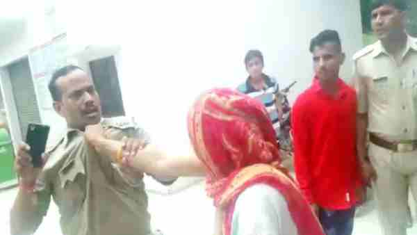 ruckus of women in police station After the arrested a young man