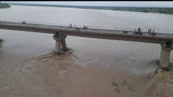 Alert: Chambal river flowing 4.91 meters above danger mark dholpur