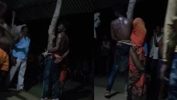 love couple tied to pole and beaten by villagers in sultanpur