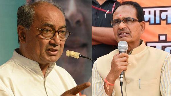 <strong> शिवराज चौहान पर दिग्विजय सिंह का पलटवार, कहा- वे नेहरू के पैर की धूल भी नहीं हैं</strong>