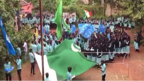 over 30 students booked for waving Pakistan flag inside campus in Kerala