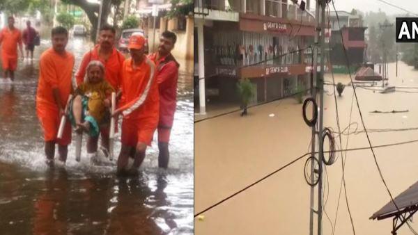 <strong>केरल, कर्नाटक और महाराष्ट्र में बाढ़ , CM येदीयुरप्पा ने किया राहत शिविरों का दौरा</strong>