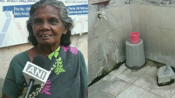Madurai: 65-year-old Karuppayi has been living in a public toilet in Ramnad for past 19 years