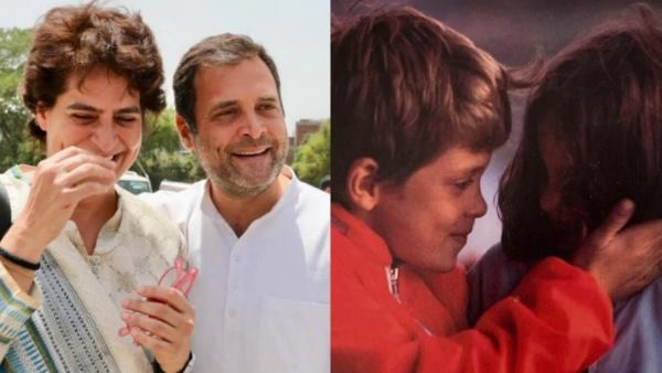 Priyanka Gandhi wishes brother Rahul gandhi on Rakshabandhan with adorable Twitter post