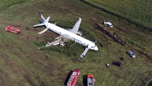 <strong>क्षतिग्रस्त विमान की मक्के के खेत में सुरक्षित लैंडिग, पायलट को दुनिया ने बताया ' रियल हीरो'</strong>