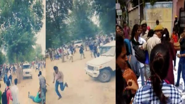 Sikar Student Fighting Before Voting of Student union election 2019