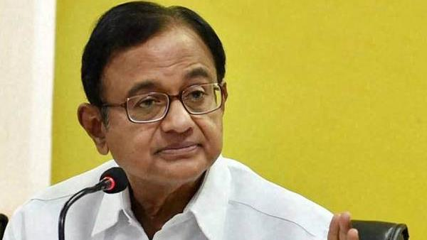 P Chidambaram taken away in a car by probe agency officials