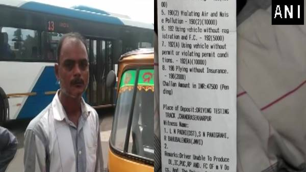 Bhubaneswar: An auto driver fined Rs 47,500 for drunk driving, not carrying required documents