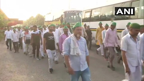 kisan unions reaching noida, will protest in delhi over their demands