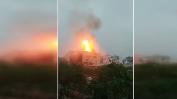 Fire in restaurant at jaipur