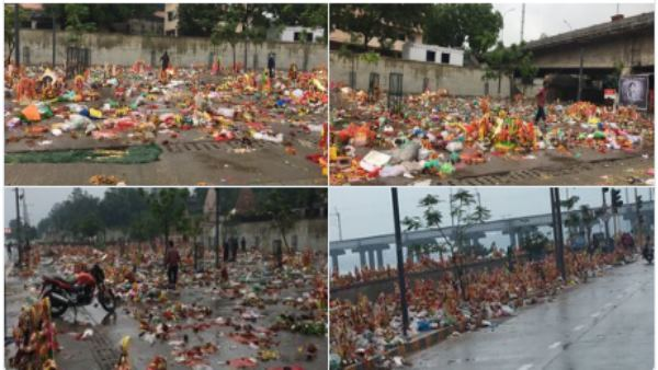 For the first time in the history, Ganesha idols had been immersed in Sabarmati river