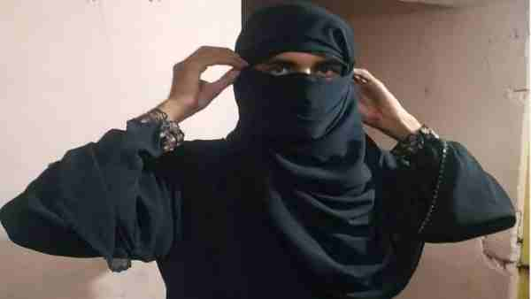 Lucknow police detained a suspected youth wearing a burqa