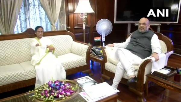 Mamata Banerjee meets Union Home Minister Amit Shah in delhi