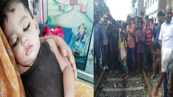 bihar woman jumped in front of running train with her baby