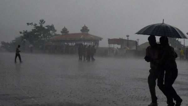 Chance of heavy rains at one or two places