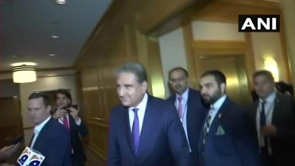 pakistan Foreign Minister Shah Mehmood Qureshi arrives late for the SAARC meet