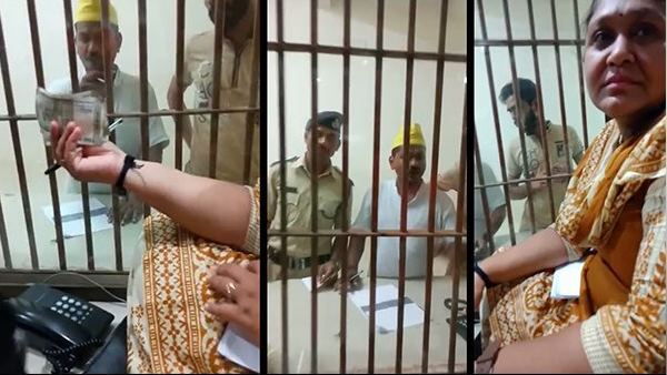 Watch video: Surat lajpore jail woman caught on camera with bribe